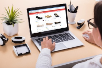 Businesswoman Doing Online Shopping